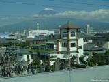 9 Fudži kalna skati pa ātrvilciena logu